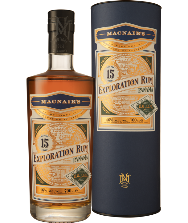 MacNair's Exploration Rum - 15 year old- bottle & tube