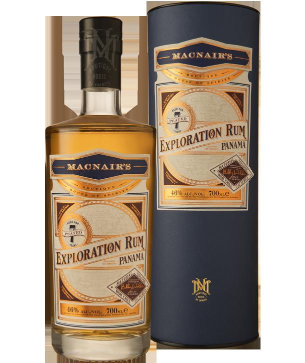 MacNair's Exploration Rum - 7 year old Peated - bottle & tube
