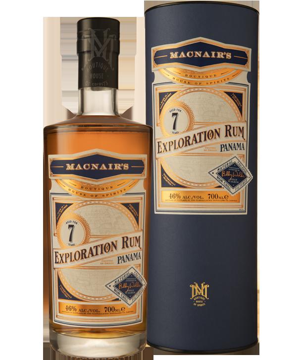 MacNair's Exploration Rum - 7 year old - bottle & tube