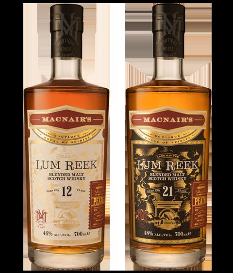MacNair's Lum Reek Blended Malt Scotch Whisky Range